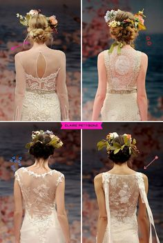 Claire Pettibone Collection - lace + sheer backs