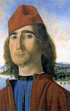 Hans Memling Portraits | Hans Memling - Portrait of a man with a red beret…