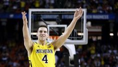 Michigans Mitch McGary celebrates his teams play during first half action between Michigan and  Syracuse in the NCAA Final Four on Saturday April 6, 2013. Michigan won the game Michigan 61-56, to advance to the championship game.