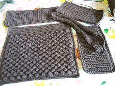 Diy Crochet Bag, Crochet Clutch, Crochet Handbags, Love Crochet, Crochet Lace, Crochet Borders, Crochet Stitches, Crochet Patterns, Bobble Stitch
