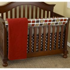 Cotton+Tale+4-pc.+Houndstooth+Crib+Rail+Cover+Crib+Set