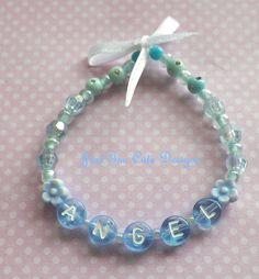 Sweet Blue Angel Bracelet Baby Toddler Girl by Justtoocutedesigns