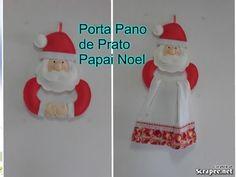 Enfeite Natalino , Papai Noel de Feltro - YouTube