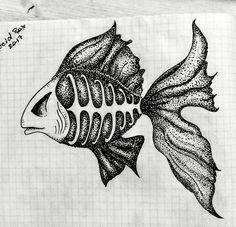 #fish #fishskeleton #goldfish #dotwork #dotworksketch #sketch #dot #tattoosketch #tattoofish #fishsketch #fishbone #dotworkfish