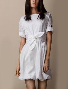 BURBERRY Silk Blend Bubble Hem Dress