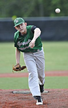 Winfield junior Mason Dillon delivers a pitch to the plate during the Generals' 4-2 victory over Hurricane in 10 innings on Wednesday.