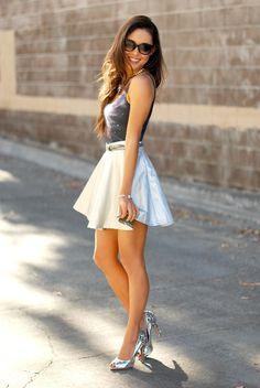 夏に着たい白のフレアスカート♡キュートなフレアミニスカートのコーデ☆スタイル・ファッションの参考に♪