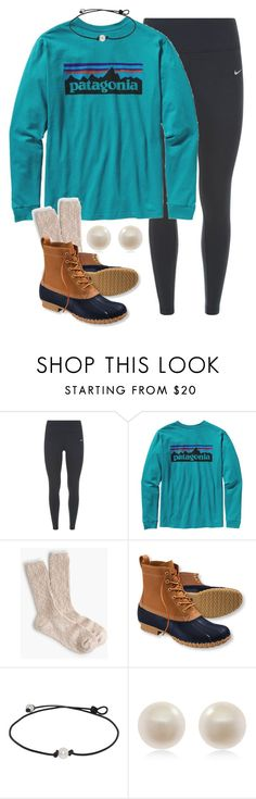 """""""I'm ready for some lazy fall days"""" by carolinaprep137 ❤ liked on Polyvore featuring NIKE, Patagonia, J.Crew, L.L.Bean and Links of London"""