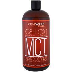 Zenwise Health, MCT Oil, 100% Coconut, C8 plus C10, 32 fl oz (946 ml)
