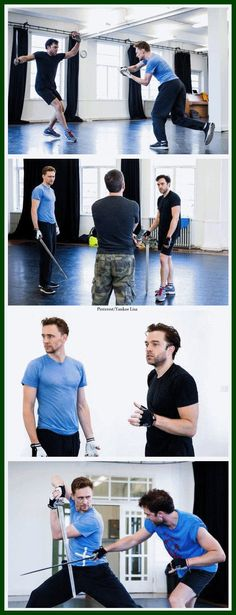 Tom Hiddleston and Hadley Fraser? It doesn't get any better :O ..  Coriolanus Seeing this would make me so happy.