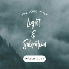 The Lord is my light and my salvation; whom shall I fear? the Lord is the strength of my life; of whom shall I be afraid? Psalms 27:1 KJV http://bible.com/1/psa.27.1.KJV