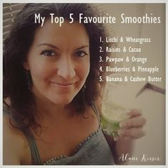 Great tasting healthy smoothies I love adding frozen banana or coconut cream to these as well.