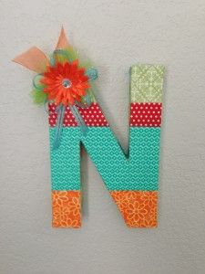 I think I'm going to do this for the baby's room and spell out her name :)