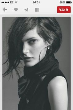 Assymetrical bob - LOVING this and should fit naturally wavy hair