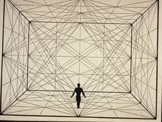 """ca. 1921--German--Oskar Schlemmer--figure in space with plane geometry and spacial delineations--Schlemmer was big into movement and space--this is from his essay """"Man and Art Figure."""""""