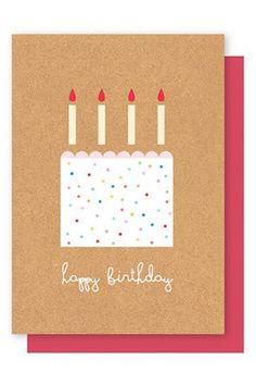 Elly Oak Card - Happy Birthday Cake