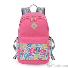 d49d8c4669f Leisure Mixed Trunk Colors Floral Pattern College Travel Bag Computer  Backpack only  31.99 in ByGoods.