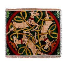 Reindeer Circle Woven Blanket
