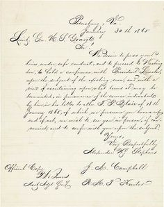 Auburn University Libraries acquires Civil War documents from Hampton Roads Conference featured in movie 'Lincoln'