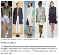 Key Trends From the Spring 2014 Runways [Fashionista.com]