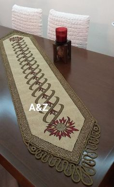 Cross Stitch Embroidery, Cross Stitch Patterns, Crochet Tablecloth, Table Runners, Diy And Crafts, Fabric, Handmade, Art, Crochet Carpet
