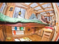 Decorate or Furnish your home these 32 WEIRD and FREE DIY Ideas (tiny house/cabin) - YouTube  -  To connect with us, and our community of people from around the world, learning how to live large in small places, visit us at www.Facebook.com/TinyHousesAustralia
