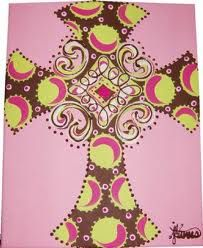 Cross on a canvas for girl's night!