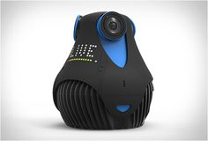 360cam is a new 360-degree camera offering 360 HD video, real-time streaming, and underwater filming. The egg-shaped camera features three ultra sharp 185º fish-eye lenses that capture and stitch images in real time, producing a breath-taking all-around view. The included 360cam app lets you have complete control of the camera, allowing you to adjust settings, control the gyroscope, and use your phone/tablet as a view finder when recording video or taking pictures.