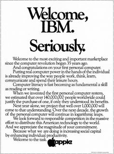 Apple - Welcome IBM - Chiat\Day - 1980