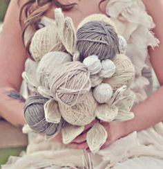 Ramo de novia de lana