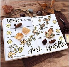 This collection of divine fall themed bullet journal pages includes spreads, calendar, and weekly