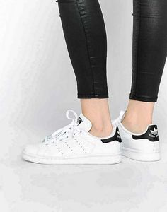8b1168799a61 Trendy Women s Sneakers   Adidas Original Stan Smith White and Black  Sneakers - Fashion Inspire