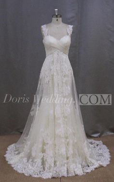 US$125.16-Vintage Lace A-Line Empire Lace Wedding Dress With Corset Back. http://www.doriswedding.com/lace-a-line-empire-dress-with-crisscross-bust-and-lace-up-back-pET_711358.html. Browse the complete selection of unique design wedding dresses, each featuring the latest design with careful attention to detail and amazing quality, fit to finish. Free Shipping! #DorisWedding.com