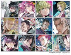 Hunter x Hunter ☆ Brigade Fantôme (Genei Ryodan) Fan Art by ZAF