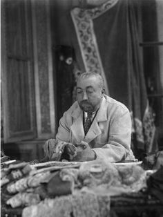 Designer Paul Poiret, Paris, 1926, photo by Boris Lipnitzki.