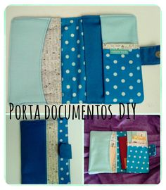 DIY travel wallet.  Porta documentos