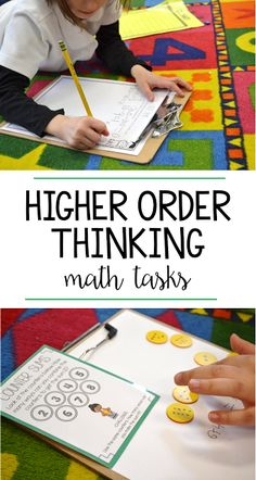 Higher order thinking activities are so important to stretch students' thinking and have them apply their skills! These questions and tasks were designed specifically with the first grade math standards in mind and there provide a ton of practice with addition, subtraction, place value, geometry, number sense, and more!