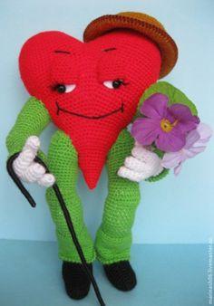 Купить Сердечный джентельмен - авторские украшения, авторская ручная работа, День Святого Валентина