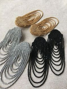 Indian Bead Cascading Earrings - Buy - Best Picture For jewelry bracelets For Your Taste You are looking for something, and it is going - Bead Embroidery Jewelry, Fabric Jewelry, Beaded Embroidery, Diy Jewelry, Beaded Jewelry, Jewelry Design, Fashion Jewelry, Jewelry Making, Jewellery
