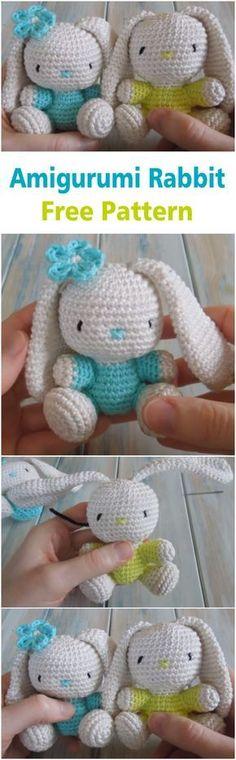 Mesmerizing Crochet an Amigurumi Rabbit Ideas. Lovely Crochet an Amigurumi Rabbit Ideas. Easy Crochet Projects, Easy Crochet Patterns, Crochet Designs, Knitting Patterns, Crochet Amigurumi, Amigurumi Patterns, Crochet Dolls, Love Crochet, Diy Crochet
