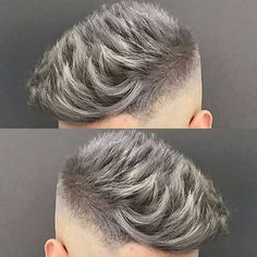 "3,760 Likes, 20 Comments - MENS HAIR STYLES & BEARDS (@menshairworld) on Instagram: ""@jose_the_barber_10 - Love that Silver Grey Colour!"""