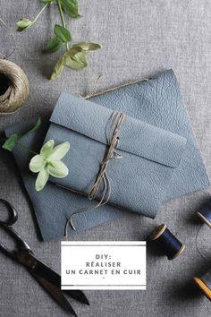 ...★★★... Do it Yourself - Comment fabriquer un carnet en cuir - La mariée aux pieds nus