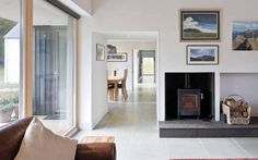 Tigh na Croit by HLM Architects gets UK Passivhaus Trust Awards House Cladding, Timber Cladding, House Facades, Living Area, Living Spaces, Passive House Design, Small Terrace, Building Concept, Bungalow House Plans