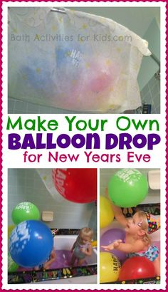 New Year's Eve Party Decoration Craft Ideas for Kids DIY balloon drop for New Years EveDIY balloon drop for New Years Eve New Years With Kids, Kids New Years Eve, New Years Party, New Year's Eve Celebrations, New Year Celebration, New Year's Eve Activities, Toddler Activities, New Year's Eve Crafts, Diy Crafts
