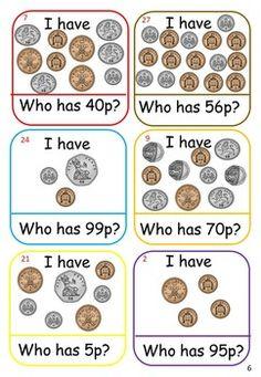 UK Money Games and Activities Money Activities, Money Games, Math Resources, Money Worksheets, School Worksheets, Number Worksheets, Year 3 Maths, Sterling Money, Primary Teaching