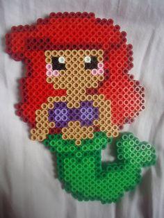 Mermaid Ariel perler beads by PerlerHime on deviantART
