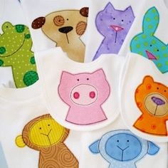 with the right fabric, these animal appliques could be very neutral #neutral #applique