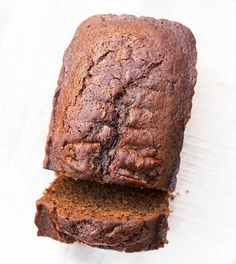 Moist French chocolate gingerbread loaf
