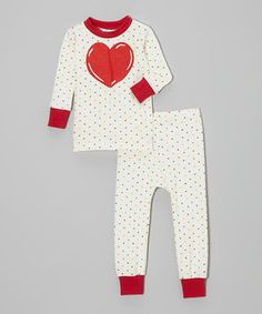 Look at this #zulilyfind! Cat & Cow Multicolor Heart Pajama Set - Infant & Toddler by Cat & Cow #zulilyfinds
