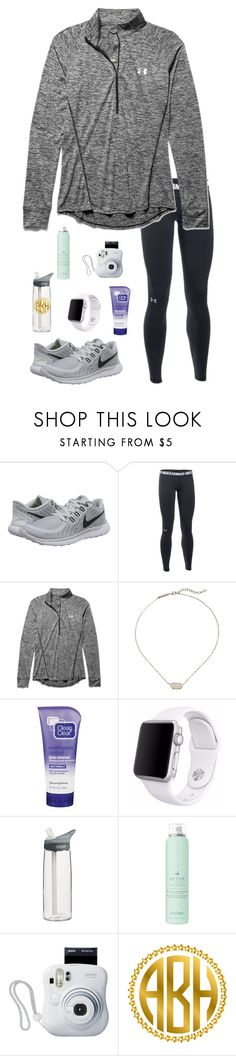 """So glad tomorrow's Friday!😫"" by jessica-smith-xxv ❤ liked on Polyvore featuring NIKE, Under Armour, Kendra Scott, Clean & Clear, Apple, CamelBak, Drybar and Fujifilm"